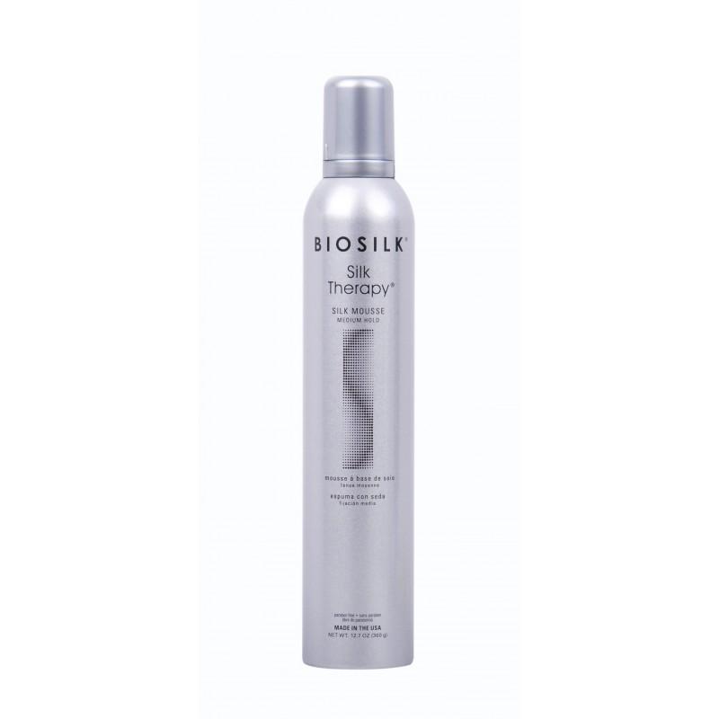 BioSilk ST Pianka średnio usztywniająca 340g / Silk Therapy Mousse Medium Hold