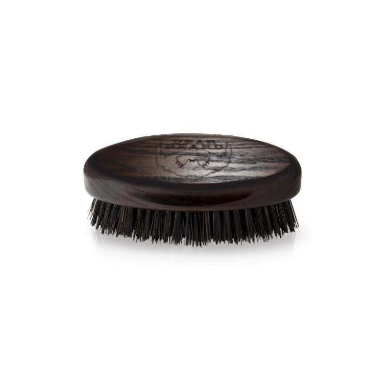 Dear Beard Mini szczotka do wąsów i brody (naturalne drewno) / BEARD BRUSH