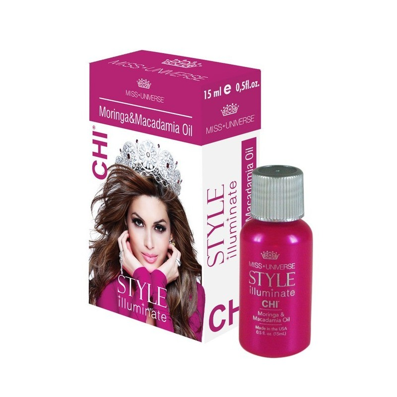 CHI Miss Universe Style Illuminate Olejek 15ml / Moringa & Macadamia Oil