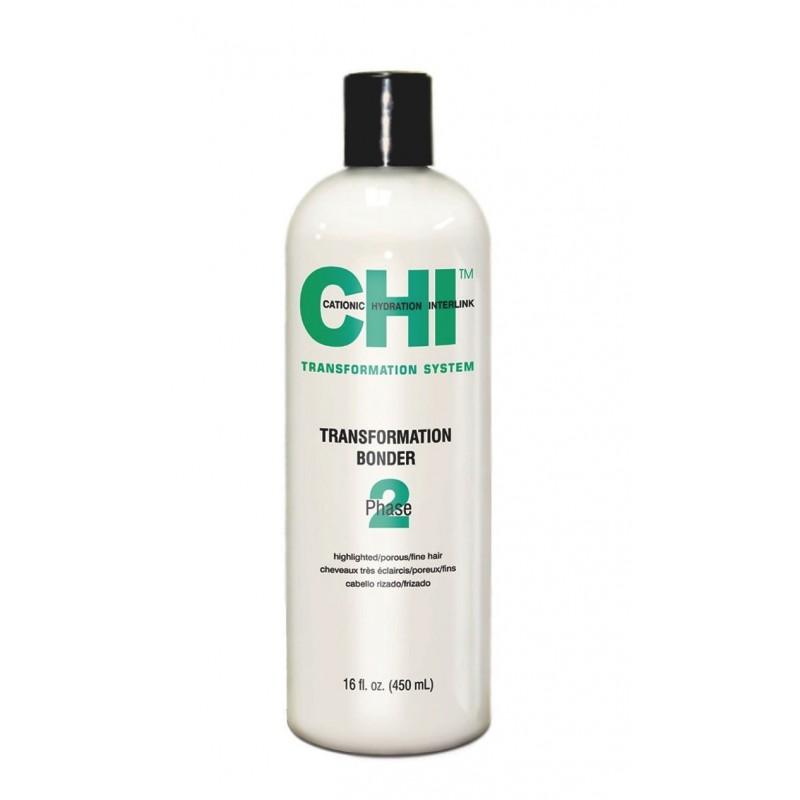 CHI Transformation Solution System Faza 2 Utrwalacz do rozjaśnianych, delikatnych i porowatych włosów (zielony)