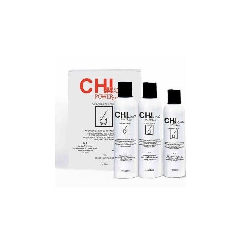 CHI44 Ionic Power Plus do włosów normalnych / Potrójny System (Szampon, Odżywka, Suplement)