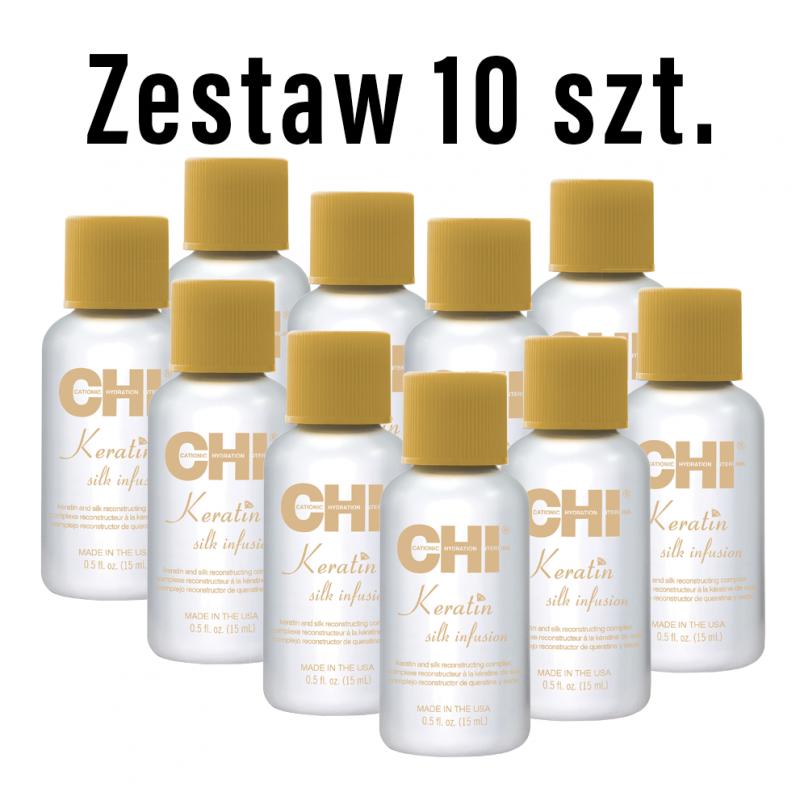 Zestaw 10 x 15ml Jedwab CHI Keratin Silk Infusion