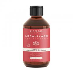 Alter Ego Arganikare Miracle Color Silver Maintain Shampoo | Szampon przeciw żółtym tonom 300ml [5387]