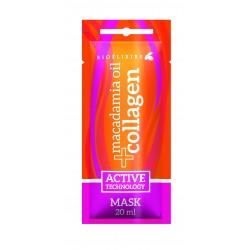 Zestaw 25 x Maska (saszetka 20 ml) Bioelixire Macadamia Oil + Collagen