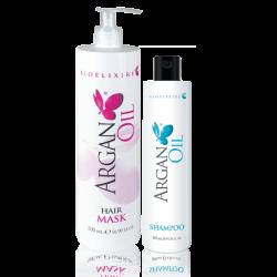 Zestaw Bioelixire Argan Oil szampon 200 ml + Maska 500 ml