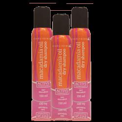 Zestaw 3x Suchy Szampon Bioelixire Macadamia Oil + Collagen Dry Shampoo 150ml