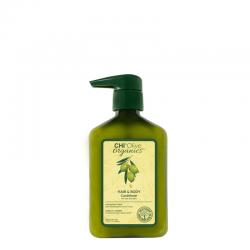 CHI Olive Organics Odżywka nawilżająca do włosów i ciała z oliwą z oliwek 340 ml