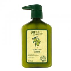 CHI Olive Organics Odżywka nawilżająca do włosów i ciała z oliwą z oliwek 710 ml
