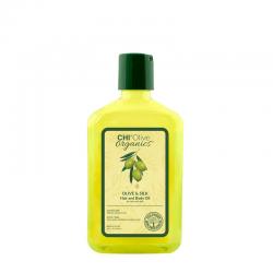 CHI Olive Organics Oliwka nawilżająca z oliwą i jedwabiem 251 ml