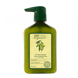 CHI Olive Organics Żel do stylizacji nawilżający, średnio utrwalający 340 ml