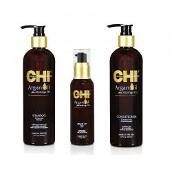 Zestaw CHI Argan Oil Szampon + Odżywka + Olejek