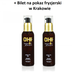 Zestaw 2 x Olejek Arganowy CHI Argan Oil 89 ml + Bilet na pokaz w Krakowie