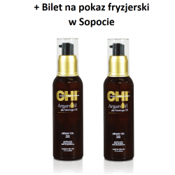 Zestaw 2 x Olejek Arganowy CHI Argan Oil 89 ml + Bilet na pokaz w Sopocie GRATIS