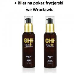 Zestaw 2 x Olejek Arganowy CHI Argan Oil 89 ml + Bilet na pokaz we Wrocławiu GRATIS