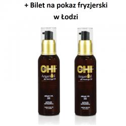 Zestaw 2 x Olejek Arganowy CHI Argan Oil 89 ml + Bilet na pokaz w Łodzi GRATIS