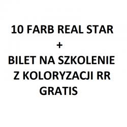 Zestaw 10 farb RR Real Star + bilet na szkolenie z koloryzacji Real Star