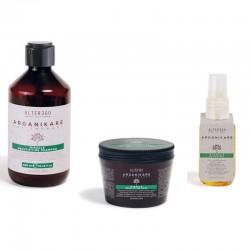 Zestaw Alter Ego Arganikare Miracle Beautifying dla włosów normalnych i grubych (Szampon + Odżywka + Olejek upiekszający)