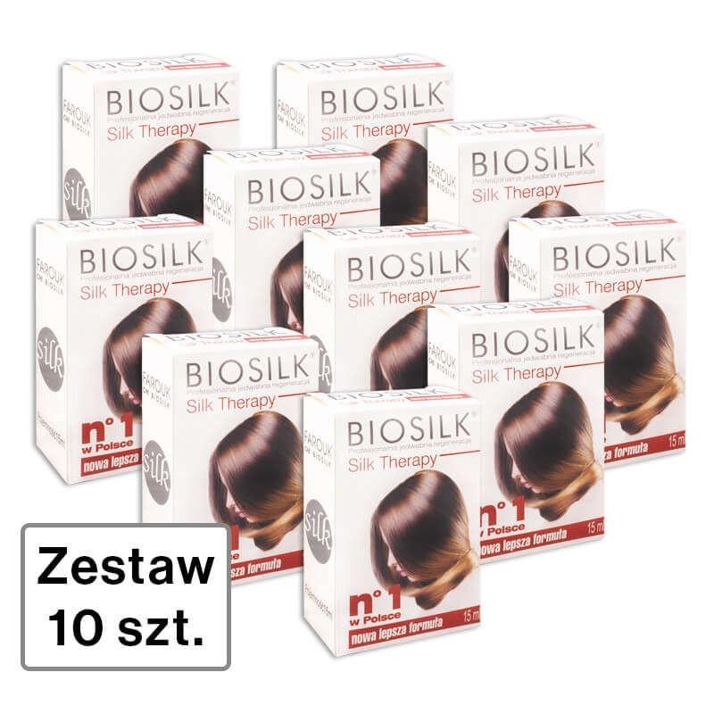 Zestaw 10 x Biosilk ST Jedwab do włosów 15 ml