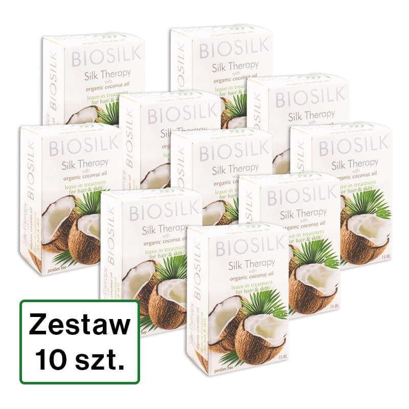 Zestaw 10 x 15 ml Biosilk Jedwab z organicznym olejkiem kokosowym