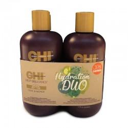 Zestaw CHI Deep Brilliance Hydrating DUO (Szampon 355 ml + Odżywka 355 ml)