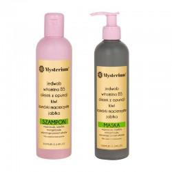 Mysterium Zestaw regenerujący z witaminą B5 bez siarczanów (szampon + maska) (zielony)