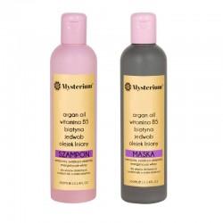 Mysterium Zestaw zwiększający objętość z biotyną (szampon + maska) (fioletowy)