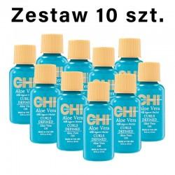 Zestaw 10 x CHI Aloe Vera Olejek do włosów z aloesem i nektarem z agawy 15 ml