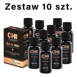 Zestaw 10 x CHI Luxury Black Seed Oil Suchy olejek z czarnuszki 15ml