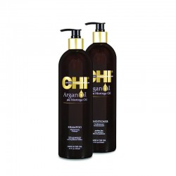 Zestaw CHI Argan Oil Szampon + Odżywka z olejkiem arganowym 739 ml