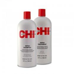 Zestaw CHI Infra Szampon i Odżywka do włosów farbowanych 946 ml