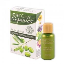 CHI Olive Organics Oliwka nawilżająca z oliwą i jedwabiem 15 ml