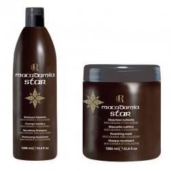 Zestaw RR Macadamia Star Szampon + maska odżywczo-nawilżająca 1000 ml