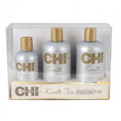 Zestaw świąteczny CHI Keratin TRIO SET (szampon 355ml + odżywka 355ml + Jedwab 177ml)