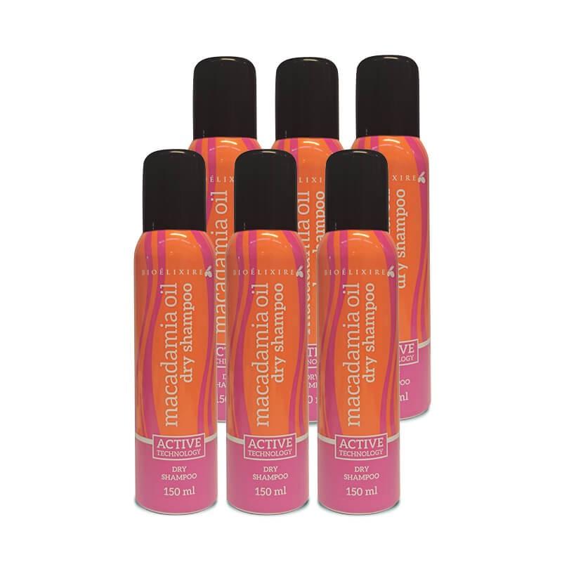 Zestaw 6x Bioelixire Suchy Szampon Macadamia Oil + Collagen Dry Shampoo 150ml