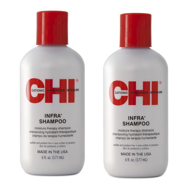 Zestaw 2x CHI Infra Szampon do włosów farbowanych 177 ml